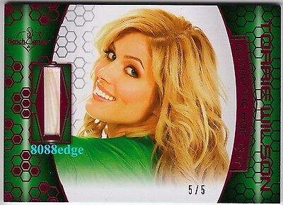 2012 Benchwarmer Soccer Hair Cut Card:torrie Wilson #5/5 Authentic Dna Pink Foil
