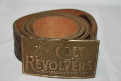 Vintage Colt Revolvers Belt Buckle - The World's Right Arm with belt