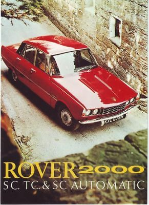 1970's Rover 2000 Advertisement A3 Poster Reprint