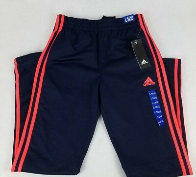 Boy's Adidas Tricot Pull On Athletic Gym Sport Pants Size L 14-16 Nwt