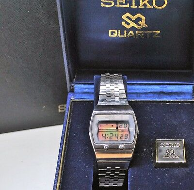 Vintage Seiko LCD LC chronograph digital watch