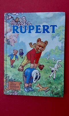 SUPERB VINTAGE ORIGINAL 1958 RUPERT BEAR ANNUAL, UNCLIPPED at 5/ NR MINT