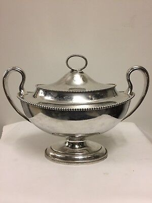 Antique American Silver Plated Two-Handles Tureen, Gorham, Circa 1890