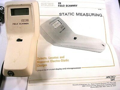 Scientific Enterprises SE FIELD SCANNER w/ Power Cord Charger AND MANUAL