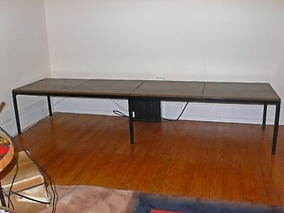 """FLORENCE KNOLL MID-CENTURY 4 SEAT ARCHITECTURAL BENCH/SOFA TABLE - 82"""" long"""