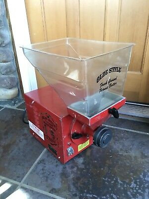 Old Tyme Peanut Butter Making Machine Red Nut Mill Grinder Working PN-1