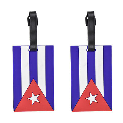 2 Luggage Tags Silicone Cuban Flag Kids Duffel Suitcase Tags National Travel Tag
