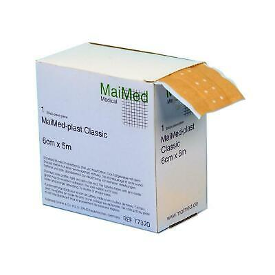 MaiMed Plast Classic Wundschnellverband Pflaster Wundpflaster Verband 6 cm x 5 m