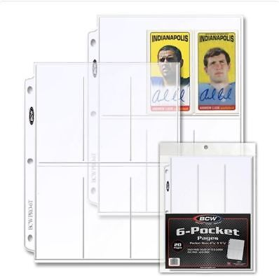 1 Pack of BCW PRO 6-POCKET PAGE (20 CT. PACK) Great for Tall Sports Cards