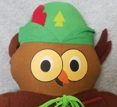 VINTAGE 1970's WOODSY THE OWL PLUSH TOY - Give A Hoot! Don't Pollute!