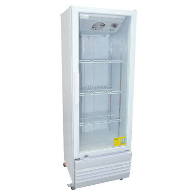 Display Fridge 220L Single Glass Door White Colourbond Drinks Refrigerator