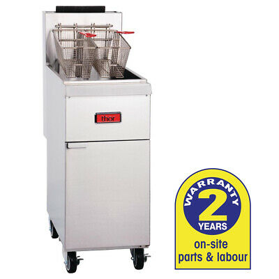 Deep Fryer 19.75L Natural Gas with 2 Baskets Thor Commercial Kitchen Equipment