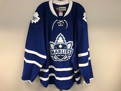 610af5bd02d Blue Reebok Toronto Marlies Ahl Pro Stock Hockey Player Game Issued Jersey