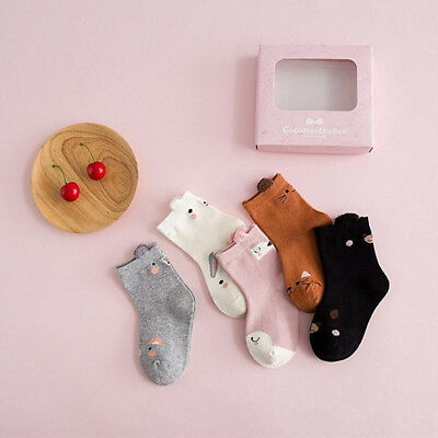 Cute Children Baby Girl Ankle Sock 3D Animal Ear Cotton Soft Cotton Fashion 5-8T