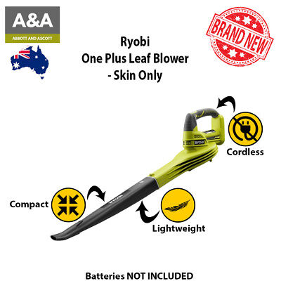 NEW Ryobi One Cordless Compact And Lightweight Leaf Garden Blower Power Tool