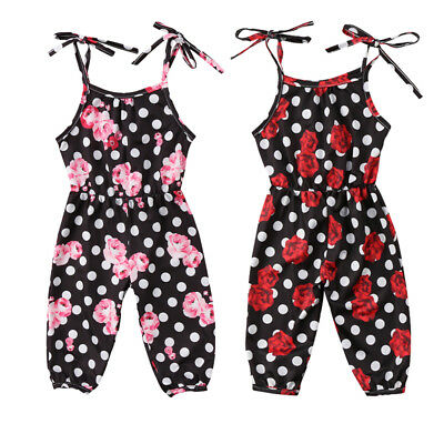 Newborn Baby Girl Flower Romper Bodysuit Jumpsuit Outfit Clothes One Pieces UK