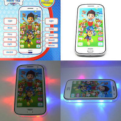 Fun PAW PATROL Figures Educational Learning Mobile Phone Kids Children Baby Toy