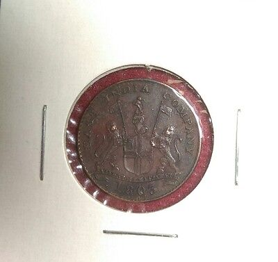 India British Madras Presidency 1803 5 Cash, World Coin, Incredible Detail