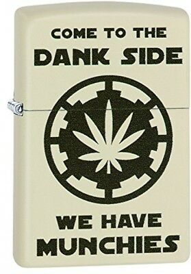 Zippo Come to the dank side ,cream matte windproof lighter