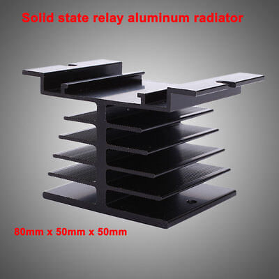 Aluminum Alloy Heat Sink 80 x 50 x 50mm Small For Solid State Relay Portector