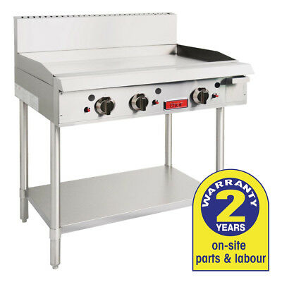 Gas Griddle 3 Burner Grill LPG Smooth Hot Plate on Stand Thor Commercial NEW
