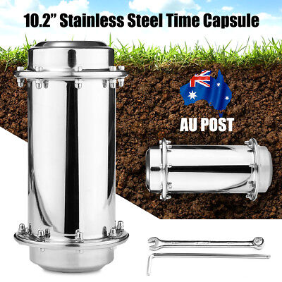 10.2'' Stainless Steel Waterproof Future Time Capsule Container Storage Gift AU