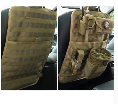 Car Seat Cover Organiser Tactical Army Front Back Multi Universal Pocket Camo