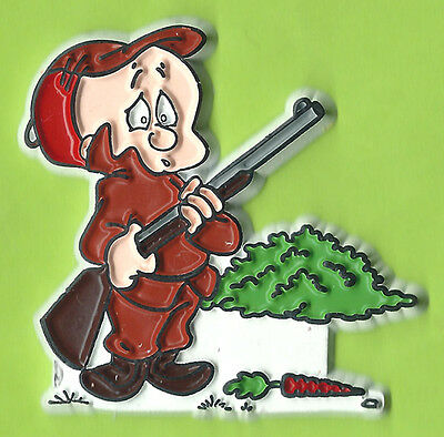 Elmer Fudd Vintage 90's Warner Bros Rubber Fridge Magnet 52x51mm New Old Stock