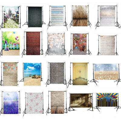 3x5FT Wood Wall Photography Studio Backdrop Photo Background Valentine's Day