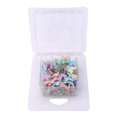 100x Butterfly Shaped Head Pins Multicolor Sewing Pins for DIY Craft Patchwork B