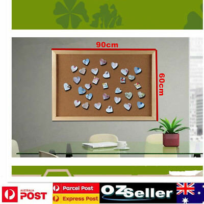 AU Cork Board Pins Corkboard Pinboard Notice Large Memo Photos Wooden Frame Wall