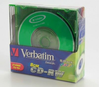 Lot 5 Verbatim 8cm CD-RV  (Réf#S-166)