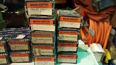 NEW MICRO SWITCH - LOT OF 12 - 8, BA-2R708 -P7/1PA10 and 4, BA-2R708-P7