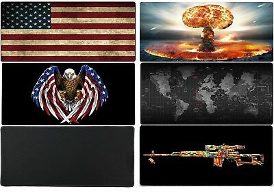 New Large Mouse Pad Extended Gaming90x40cm Big Size Desk Mat World Map US Eagle