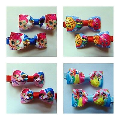 PAIR of Girls Baby Kids Children Hair Accessories Bows  Clips Slides
