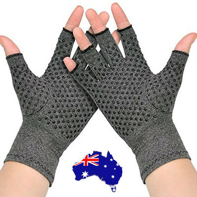 Arthritis Gloves Compression Joint Finger Pain Relief Hand Wrist Support Brace F