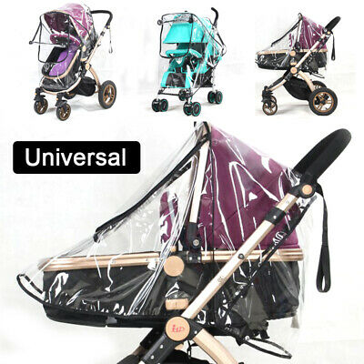 Universal Transparent Rain Cover Pushchair Buggy Baby Stroller Pram Wind Shield