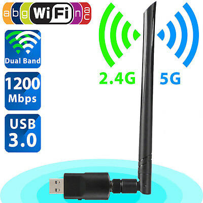 USB3.0 Dual Band 2.4G/5G 1200Mbp Wifi 802.11ac Adapter Wireless Networks Card AC