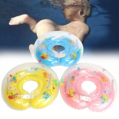 Infant Inflatable Newborn Swimming Neck Circle Baby Float Ring Bath Safety UK