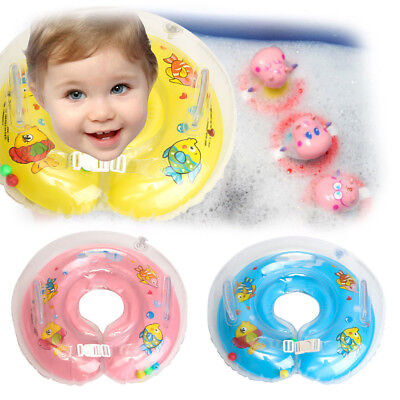 Infant Inflatable Newborn Swimming Neck Circle Baby Float Ring Bath Safety AU
