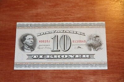 DENMARK REPLACEMENT NOTE 10 KRONER (19)62 SERIE HJ P 44r6 VF