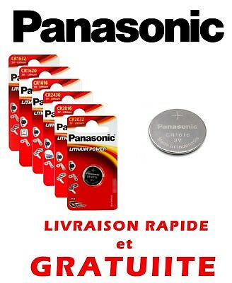 Piles boutons plates 3V Lithium CR1616 CR1620 CR1632 CR2016 CR2032 Panasonic