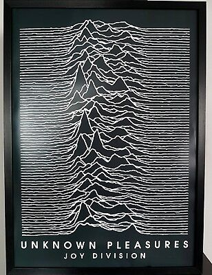 Joy Division-Unknown Pleasures-LUXURY Framed POSTER Certificate-Ian Curtis