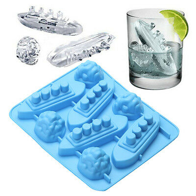 Silikon ice tool Trays Shaped Carving Mold Mould Maker Titanic For Party Drinks