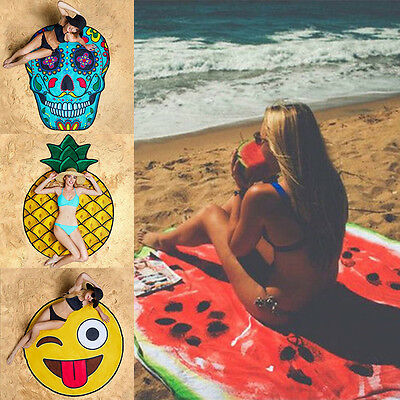 Summer Fruit Food 3D Printing Pool Shower Beach Towel Shawl Scarf Sunscreen