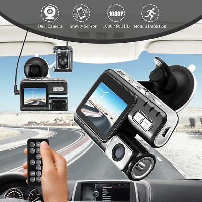 Night Vision Dual Lens Dash Cam Front And Rear Car 2.7 Inch 140 Degree 1080p HD