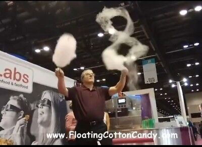 "Robo JetFloss Commercial ""Floating Cotton Candy"" Machine - Vertical Upflow!!!"