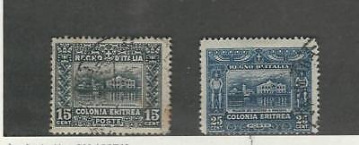Eritrea (Italy), Postage Stamp, #47, 48 Used, 1910-1929