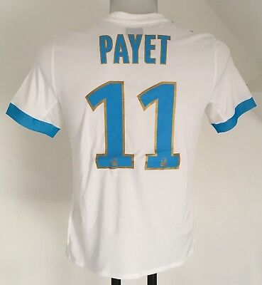 Olympic Marseille 2017/18 S/s Home Shirt Payet 11 By Adidas Size 13-14 Years New