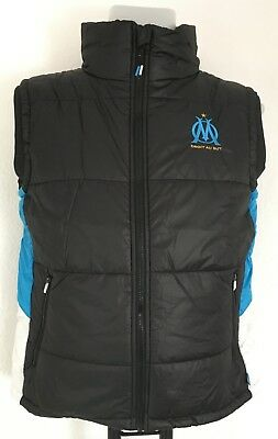 Olympic Marseille Black Gilet Official Merchandise Size Adults Large New
